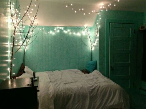 white christmas lights in bedroom mint room branches with christmas lights home
