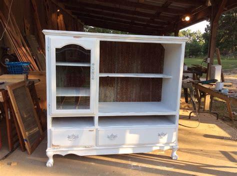 oak entertainment center refurbished  hutch vintage