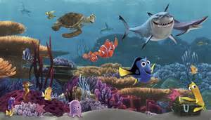murals disney xl murals finding nemo prepasted xl sized wallpaper finding nemo half wall mural the block shop