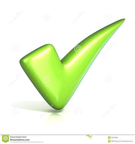 Green Check No Background Green Correct Check Stock Illustration Image 52278583