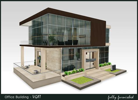 small commercial building designs small commercial office second life marketplace estequal virtual buildings
