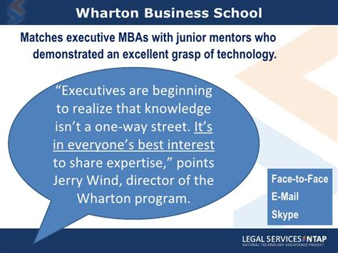 Wharton Mba Difference by Mentoring Through Generational Digital Differences