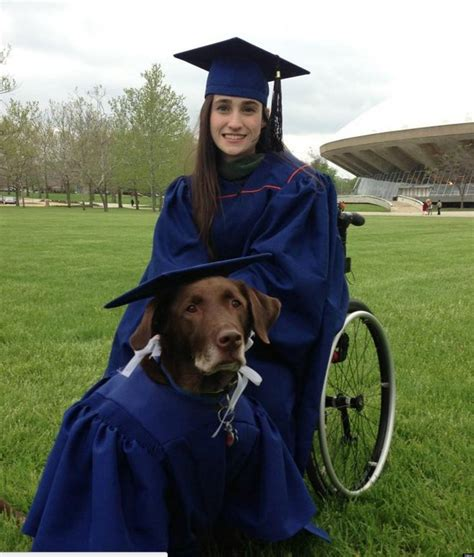 service dogs colorado disabled student service attend graduation in matching caps gowns