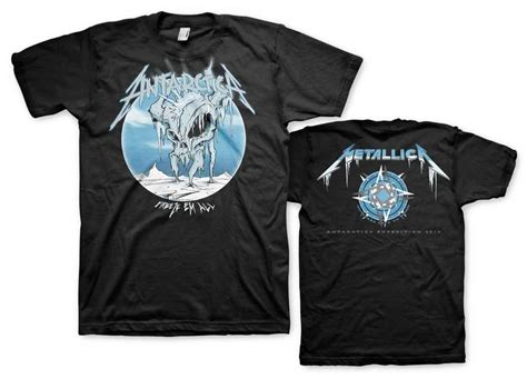 Tshirt Guitar Metalica April Merch metallica limited edition antarctica quot freeze em all quot t shirts are still available in the met