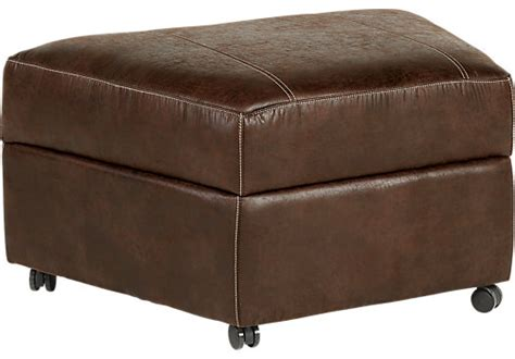 living room storage ottoman 199 99 saybrook brown storage ottoman contemporary