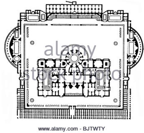 baths of caracalla floor plan floor plan of the baths of caracalla stock photo royalty