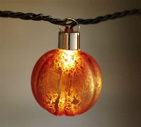 Orange Mercury Glass Pumpkin String Lights Pottery Barn Pumpkin Lights