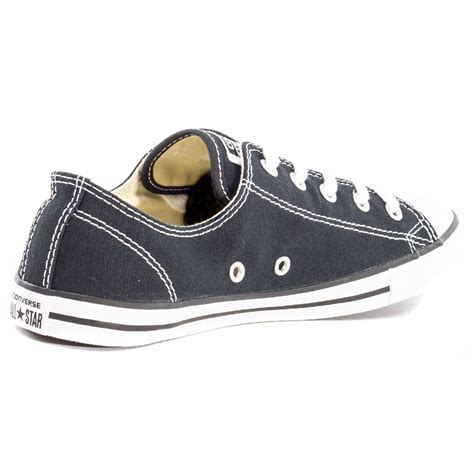 Converse Dainty Ox Weiß by Converse Chuck Dainty Ox Womens Trainers In Black White