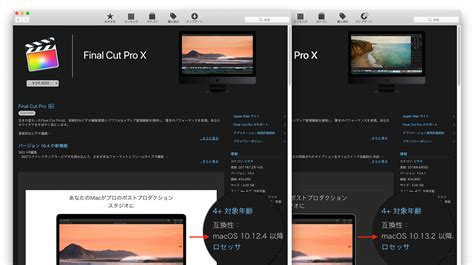 final cut pro requirements apple prores rawのサポートや最低システム条件をmacos 10 13 2以降とした final