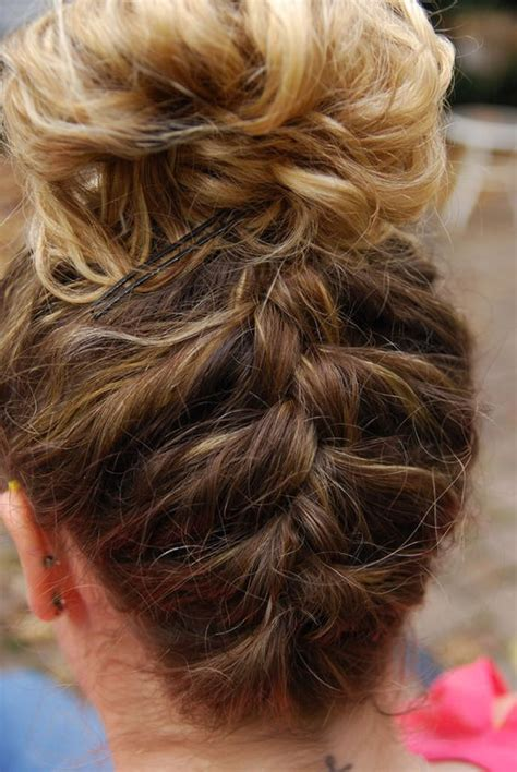 french braid back of head try french braiding up the back of your head for something