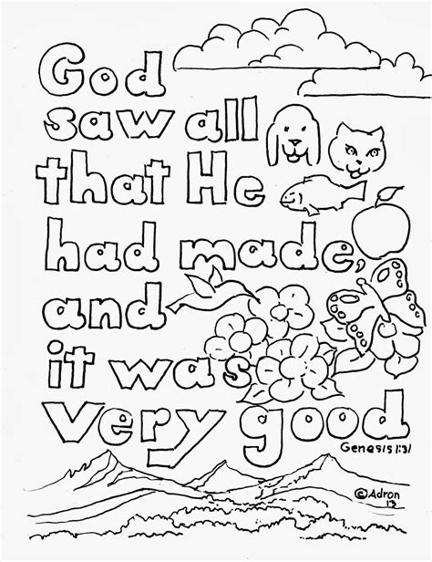 Genesis 3 Coloring Page by Coloring Pages For By Mr Adron Genesis 1 31 Print