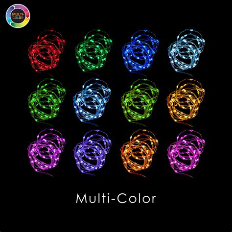 multi color lights with remote remote controlled 50 led multi color fairy string lights
