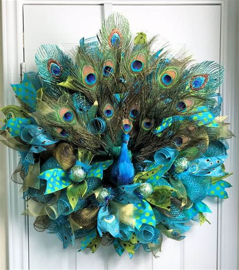 17 best ideas about peacock wreath on feather