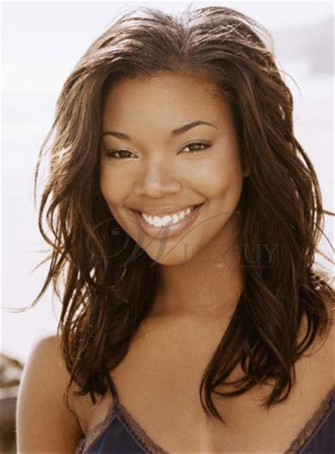 exles of feathered hair gabrielle union long wavy brown human hair full lace wigs