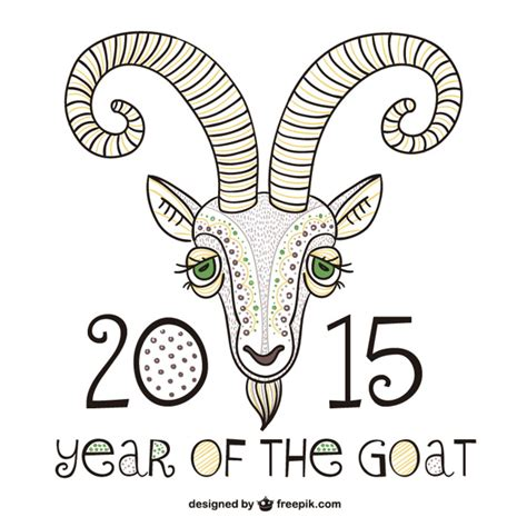 happy new year of the goat 2015 2015 year of the goat vector free