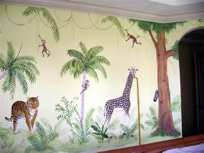 dream wall painting for child bedroom animals wall jungle dreams wallpaper kit 99 x 164 or 8 3 x 13 8