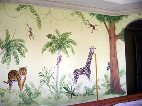 jungle theme baby room decor children s murals decorating ideas for baby toddler