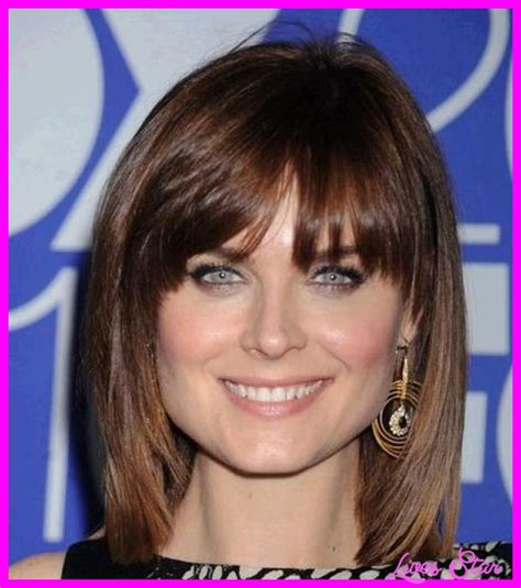 Hairstyles With Bangs For Faces by Hairstyles For Square Faces With Bangs Livesstar