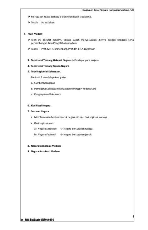 Teori Negara Hukum Modern Munir Fuady resume buku ilmu negara karangan soehino