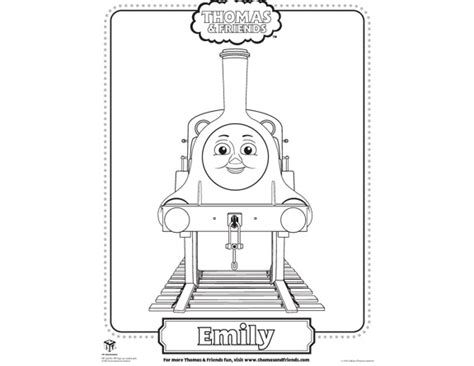Emily Train Coloring Page | emily thomas coloring pages