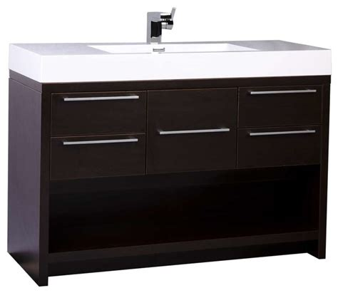 conceptbaths 47 quot modern bathroom vanity set with espresso