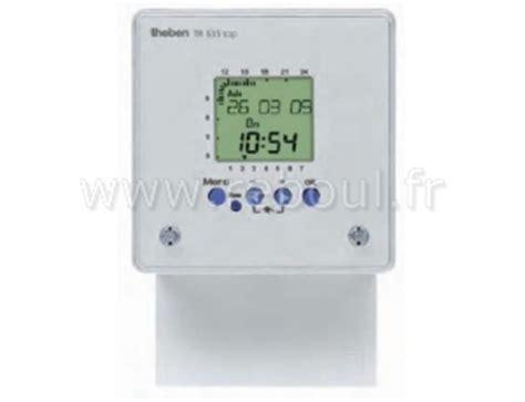 horloge programmable digitale composants interrupteur horaires theben 6350002 horloge programmable digitale en saillie 1c