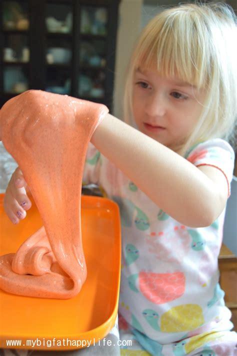 cara membuat slime happy girl halloween slime my big fat happy life