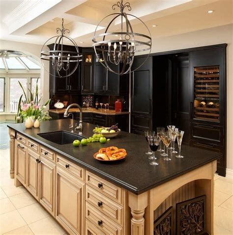 black granite kitchen countertops spectacular granite colors for countertops photos
