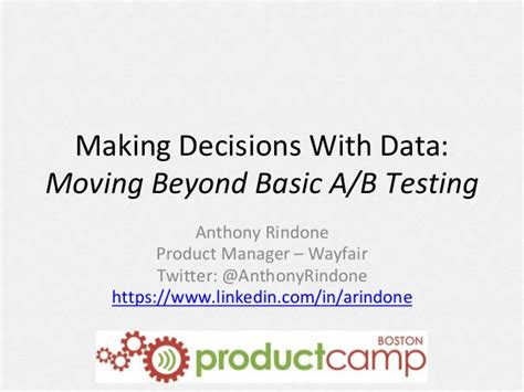 three decisions how to move beyond the bruises of books decisions with data beyond basic a b testing