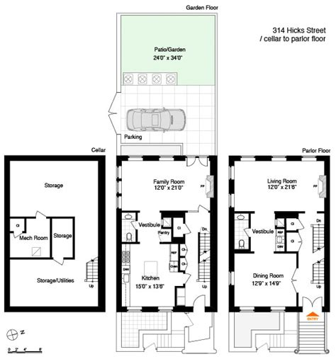 brownstone floor plans traditional brownstone in heights with contemporary interiors idesignarch interior