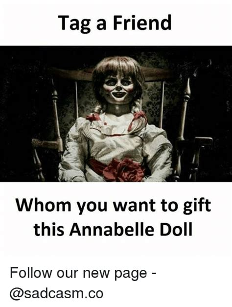 annabelle doll gift tag a friend a whom you want to gift this annabelle doll