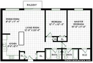 Simple House Plan With 2 Bedrooms Elk Grove Village Apartments 2 Bedroom Apartment Floorplan