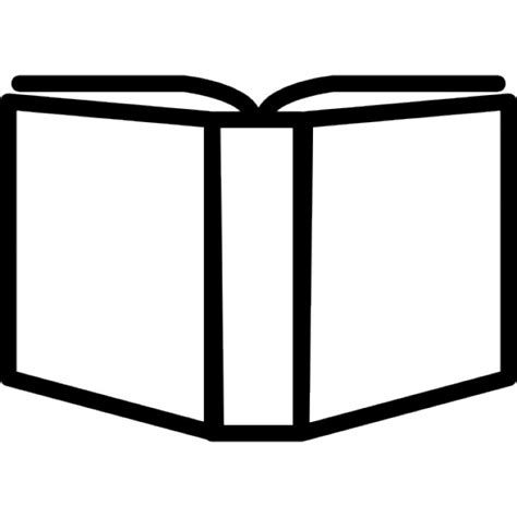 Outline Of A Open Book by Open Book Outline Variant Inside A Circle Icons Free