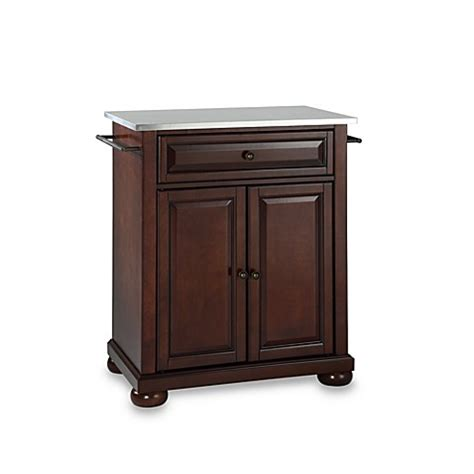 mahogany kitchen island buy crosley alexandria stainless steel top portable kitchen island in mahogany from bed bath