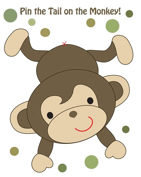 free printable monkey template whit goodin brantley s baby shower