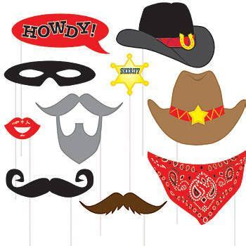 free printable photo booth props cowboy our western photo props feature a variety of fun western