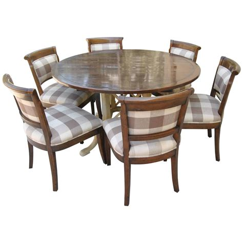 Country Kitchen Tables And Chairs Sets Country Kettering Table And Six Dudley Side Chairs By Chaddock For Sale At 1stdibs