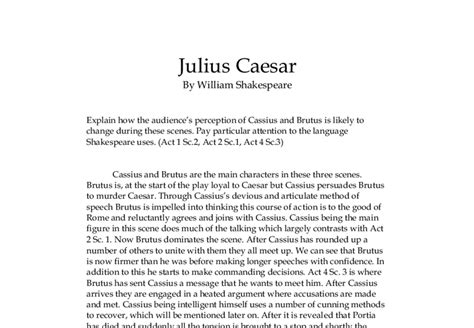 Julius Caesar Brutus Essay by High School Research Paper Free
