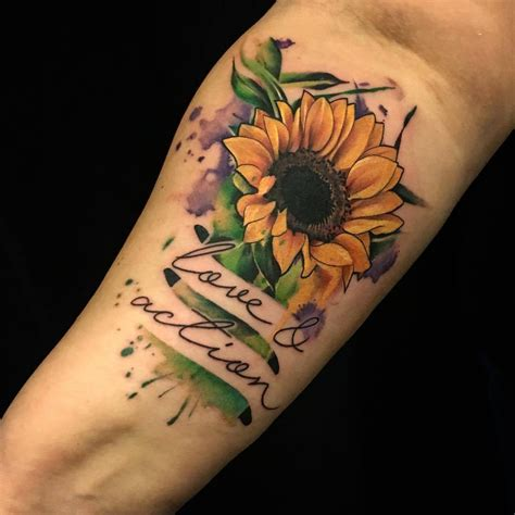 sunflower tattoo tumblr tattoos org sunflower artist lu pariselli