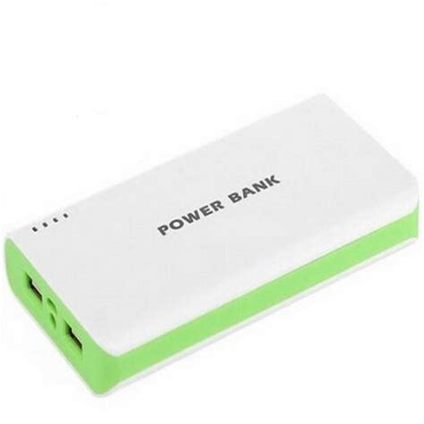 מוצר 15000mah power bank external battery white green