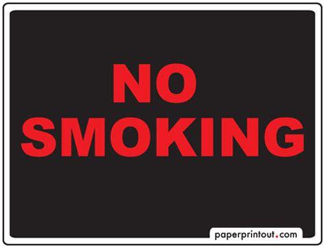 printable no smoking sign no smoking signs free printable sign