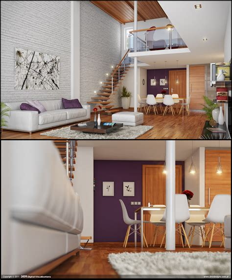 loft living rooms loft living brickwall interior design ideas