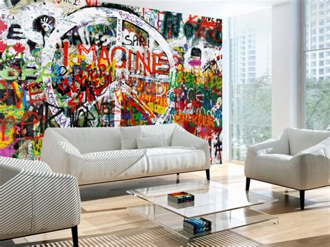graffiti wallpaper living room photo wallpaper hippie graffiti street art wall murals on