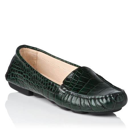 lk flat shoes l k gail flat shoes in green lyst