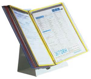 Desk Flip Chart Organizer Tarifold 174 Desk Stands Tarifold Desk Units Tarifold Organizers