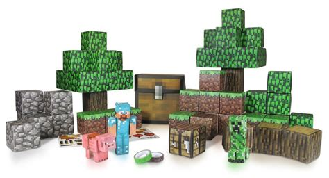 Minecraft Papercraft Overworld Deluxe Set - top 10 minecraft toys ebay