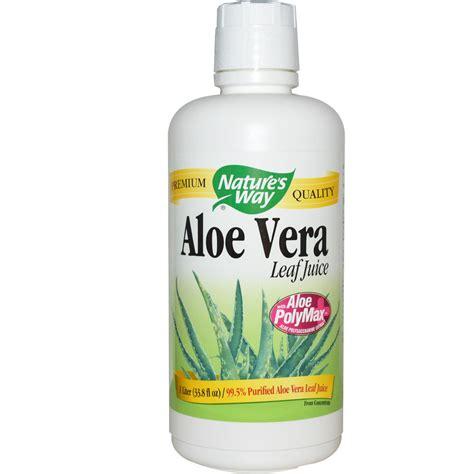 Shoo Extract Aloevera Nature S Way Aloe Vera Leaf Juice 33 8 Fl Oz 1 Liter