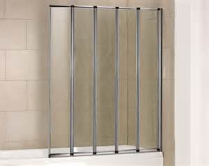 folding shower screen over bath 5 panel folding shower screen folding bath screens