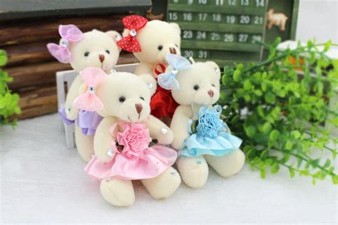 12 cm jointed doll slot 12cm jointed teddy plush doll for
