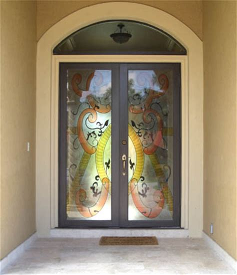 Impact Glass Entry Doors Door With Hurricane Impact Glass Artistry In Glass